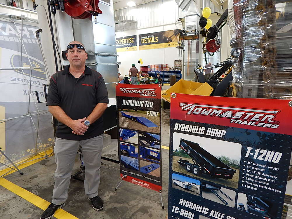 Russ Woelke, Towmaster Trailers regional sales manager, stands ready to answer customers' questions.