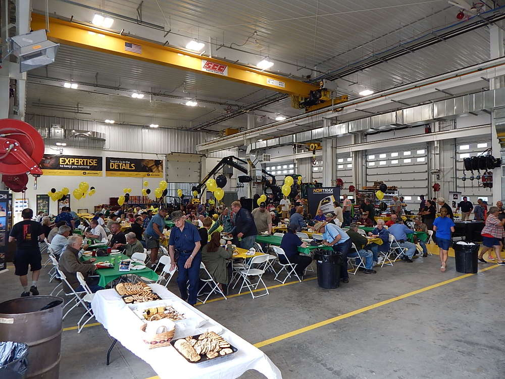 There was plenty of room in the massive service bays to accommodate the large lunch crowd of more than 600 attendees.