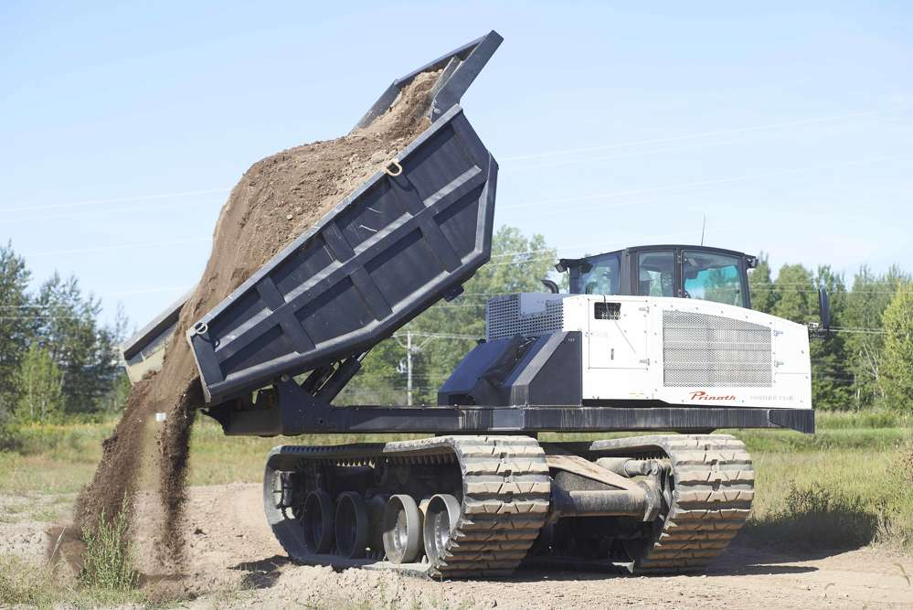 A PRINOTH PANTHER T14R rotating dumper at work in Kentucky.