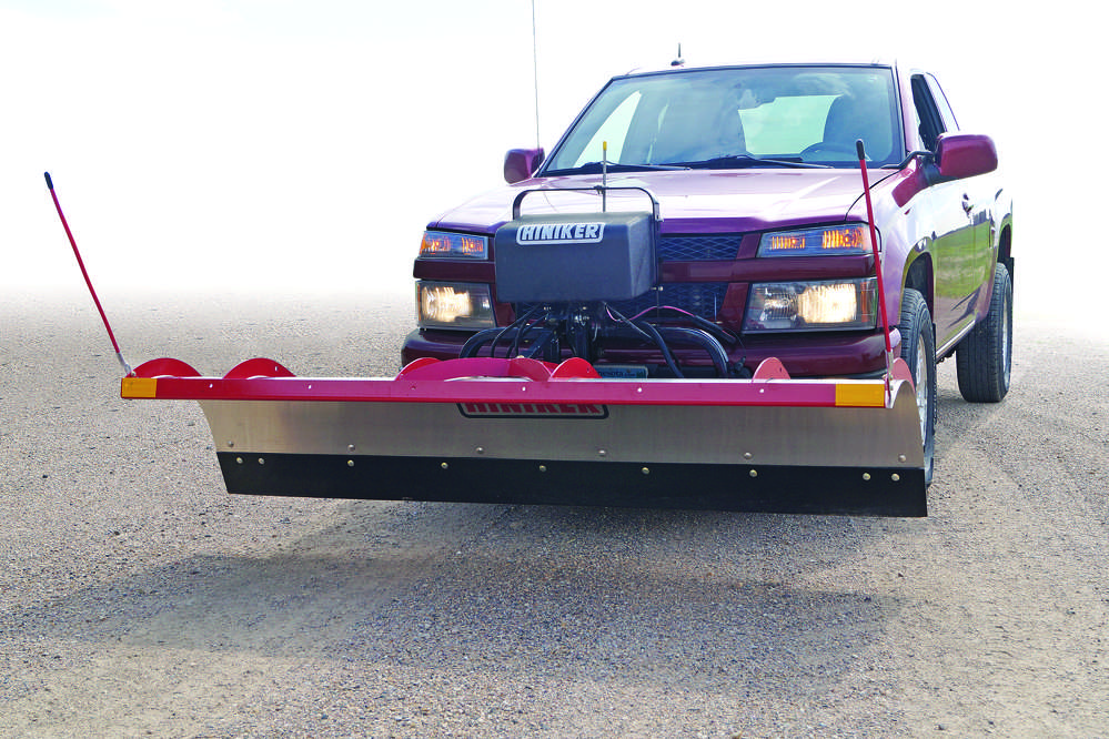 The self-aligning, drive-in Hiniker Quick-Hitch 2 mounting system allows users to connect the plow within seconds.