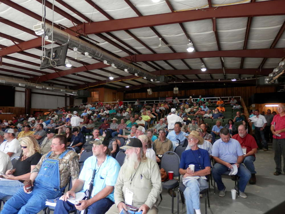 Customers place their bids at the two-day Early Fall Public Auction.