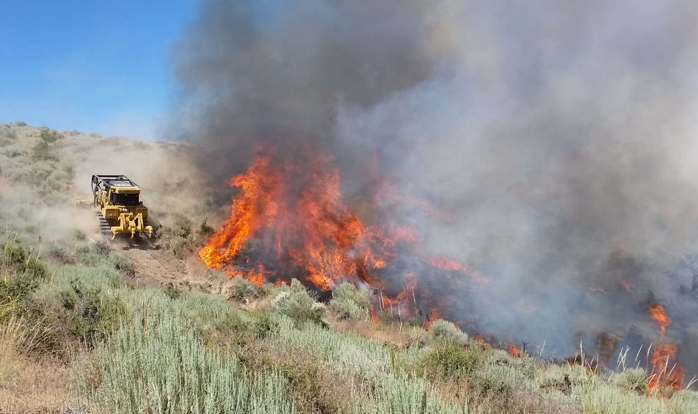 """""""The biggest fires are in Oregon, Washington and Montana,"""" said Jessica Gardetto, spokesman for the National Interagency Fire Center. (National Interagency Fire Center photo)"""