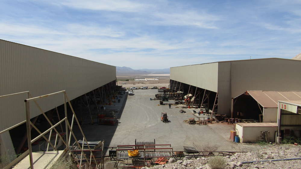 The Goodfellow Crusher facilities have grown out of the desert just south of Las Vegas.