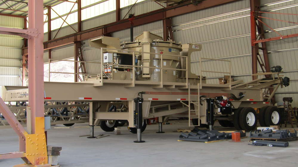 Goodfellow Crushers carries the KPI-JCI portable 4500 vertical shaft impact crusher. The KPI-JCI's VSI crushers offer the ability to run in standard, semi-autogenous and fully autogenous configurations.