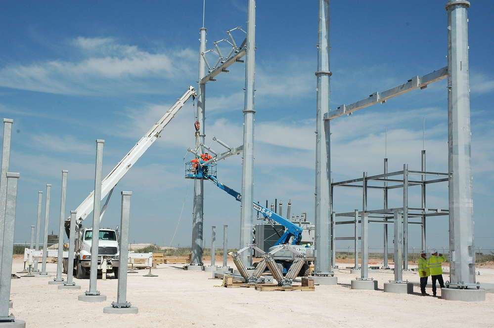 Xcel Energy have completed a 10-mi. segment of a new power loop. (Xcel Energy photo)
