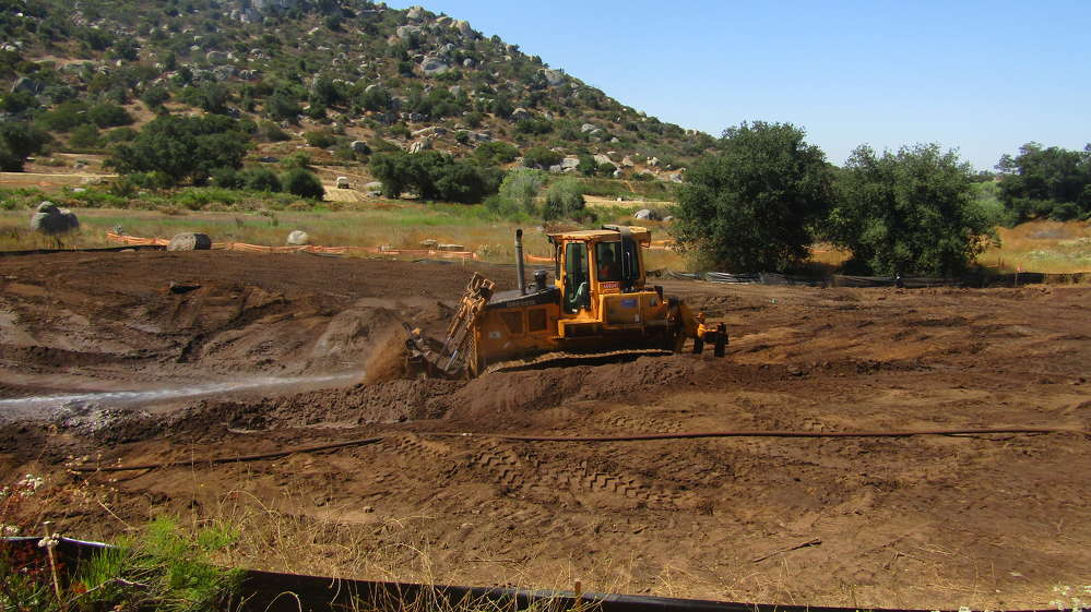 Mega Engineering of Lakeside, Calif., is currently grading residential building pads in Trevi-Hills.