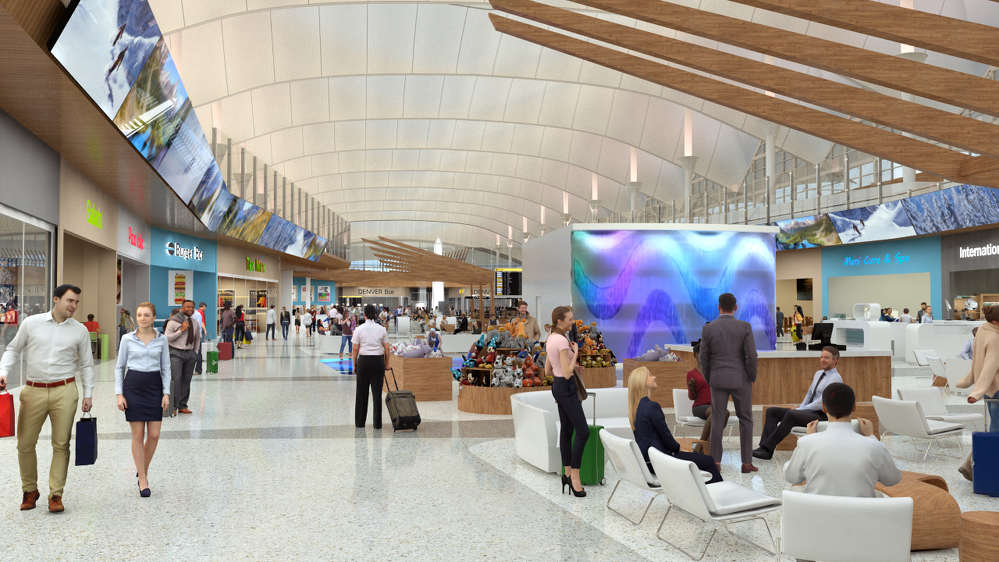 Rendering of the Great Hall