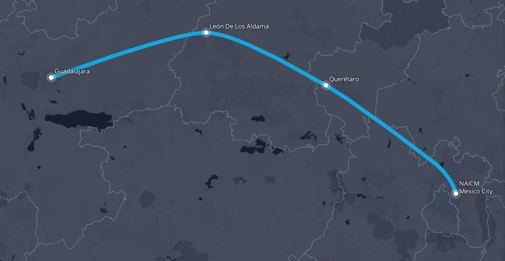 Mexico City To Guadalajara Route