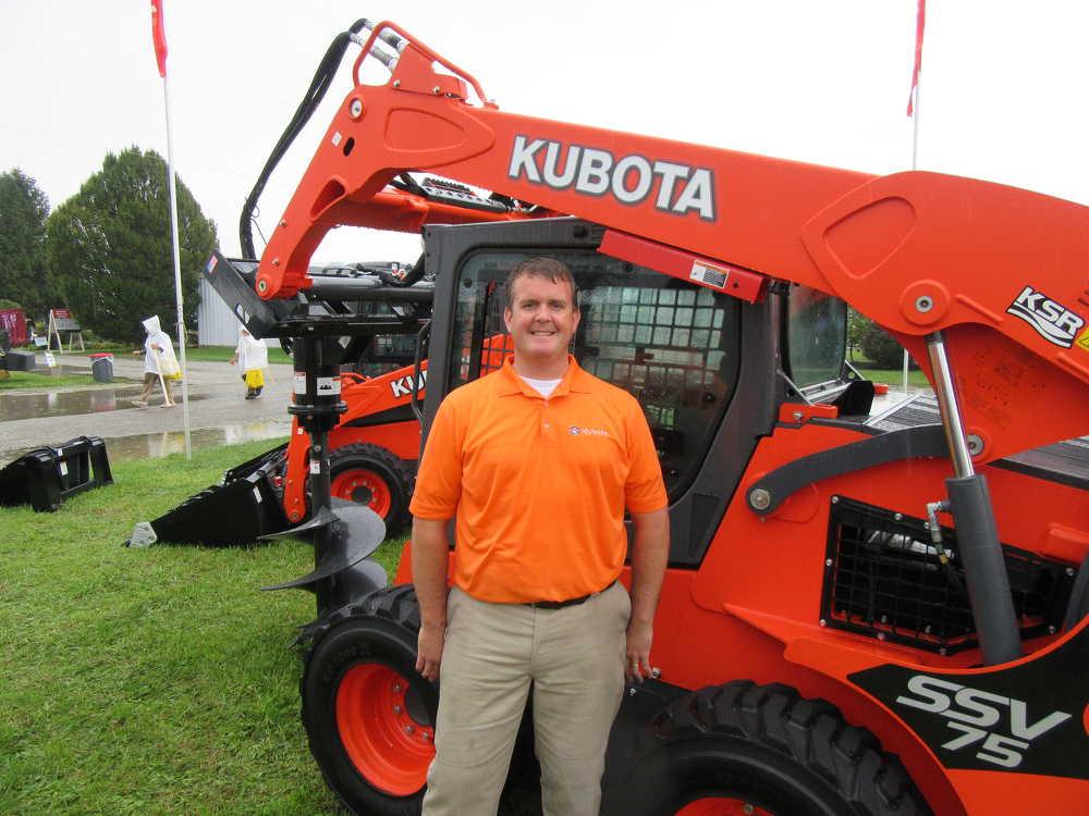 Matt Guentter, Kubota manufacturing business development manager, discusses an extensive range of Kubota equipment at the show.
