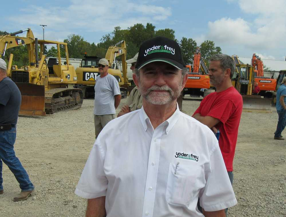 Peter Clark, president of Yoder & Frey Auctioneers, was on hand to ensure that everything ran smoothly at the auction.