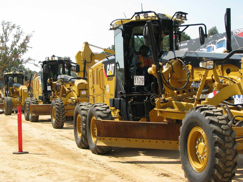 The late-model Cat 12M motorgraders in the sale line-up sold in the $140,000 to $160,000 range.