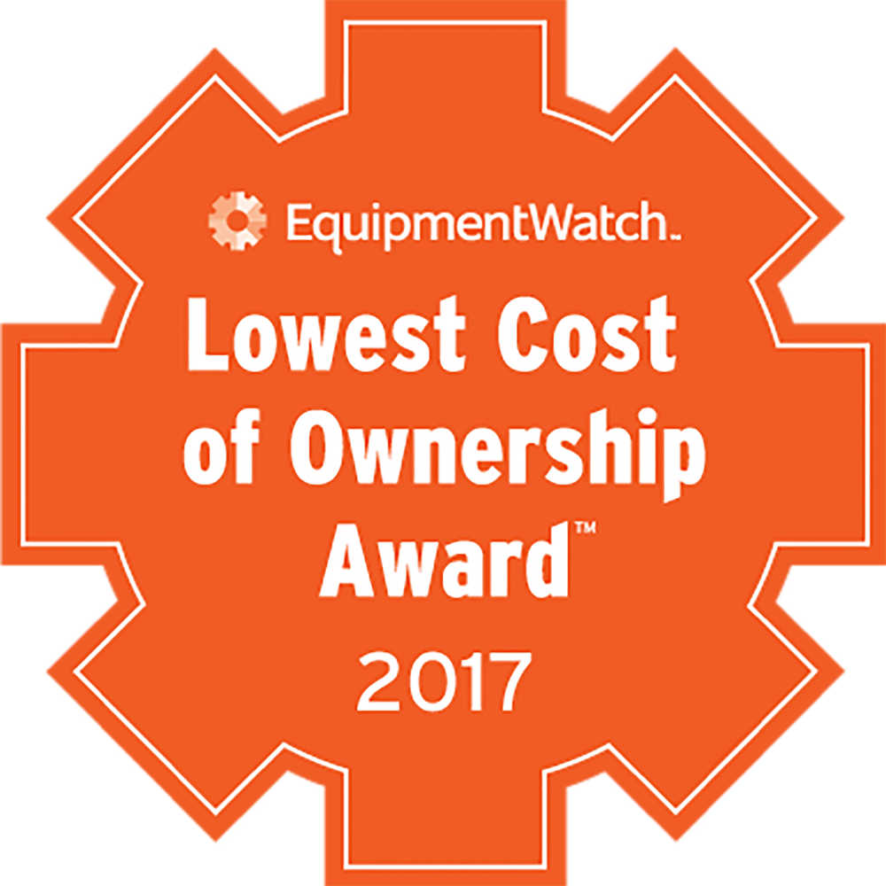 The Lowest Cost of Ownership Awards are the industry's only accolade of its kind, based on empirical data regarding the long-term cost of heavy equipment.