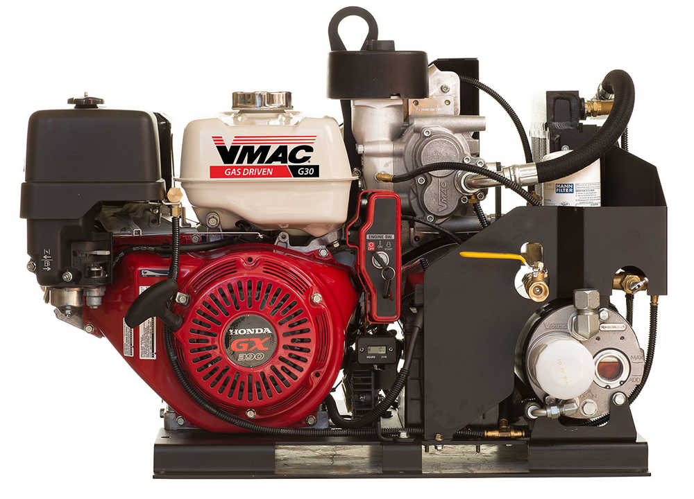 Vmac releases g30 gas engine driven air compressor with for Honda air compressor motor parts