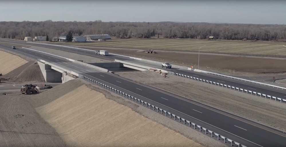 The Idaho Transportation Department's $11.2 million U.S. 20 Thornton Interchange project was voted the People's Choice Award winner. (ITD image)