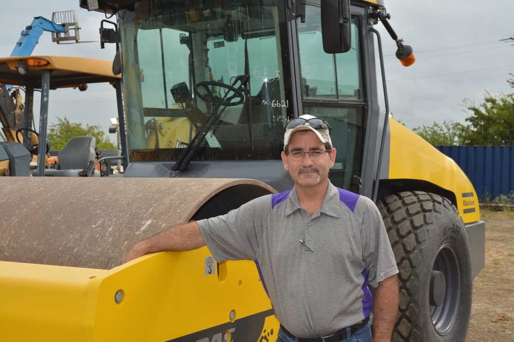 Fred Leach of CISCO Equipment DFW had his eye on compaction equipment, especially this Dynapac CA2500.
