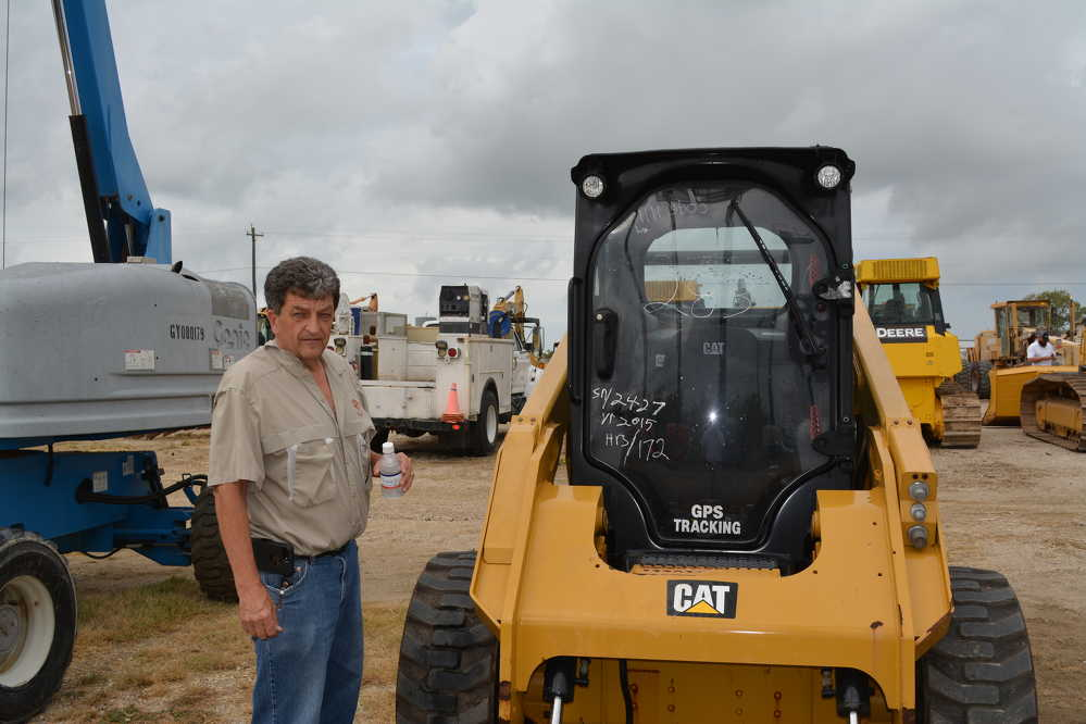 Tony Montano of A. Montano Equipment of Saugerties, N.Y., was an active bidder at the well-attended auction.