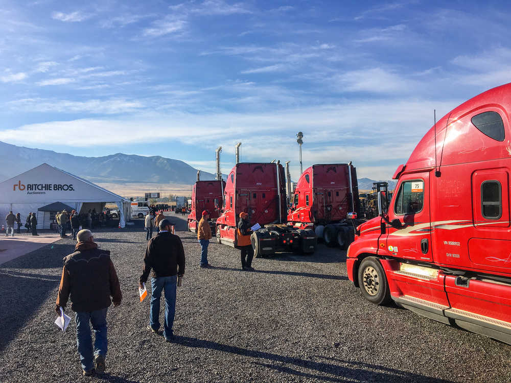 More than 900 equipment items and trucks were sold in the auction.