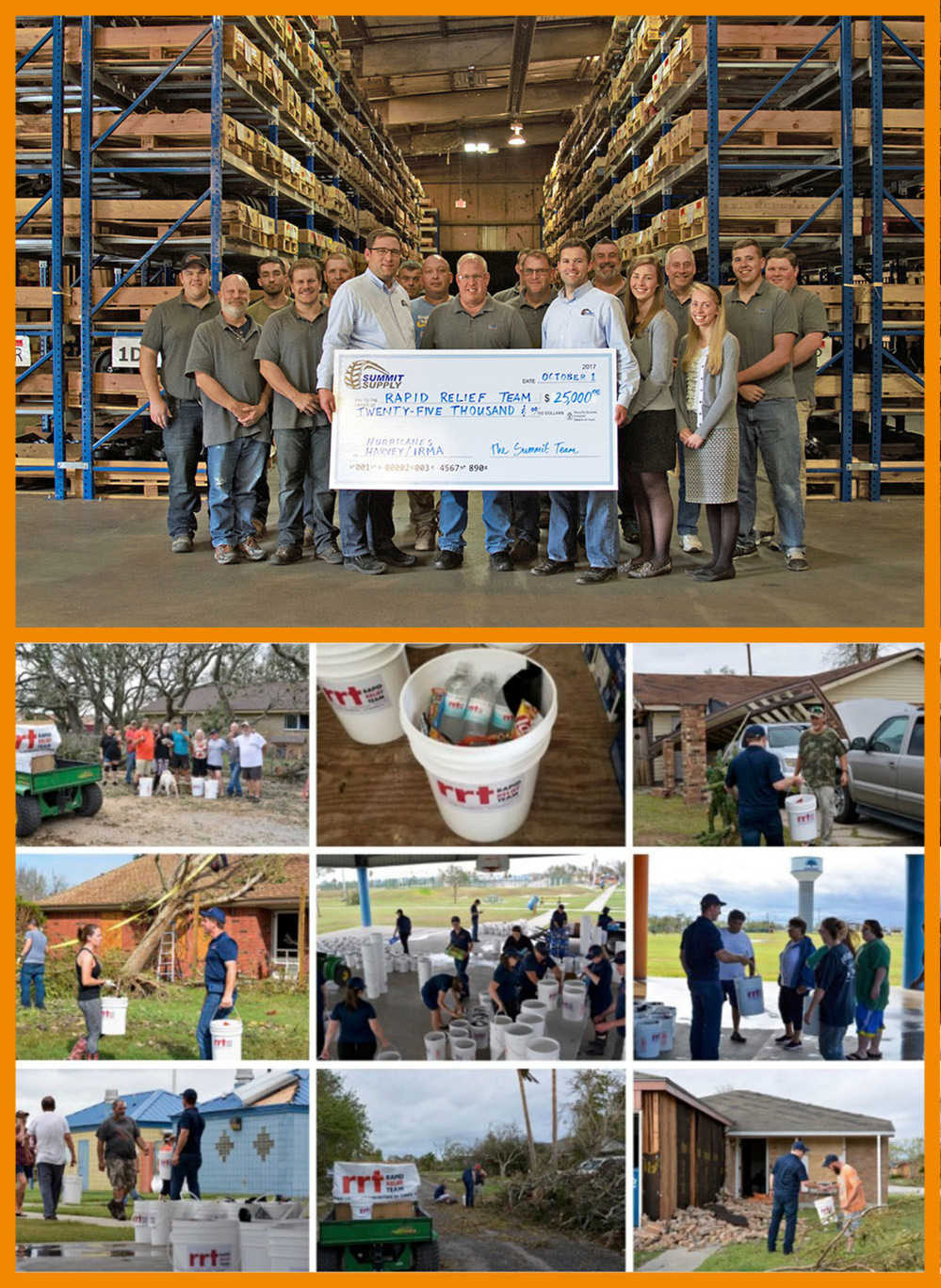 Summit Supply believes whole-heartedly in giving back, and we are proud to support the efforts of this amazing group of volunteers during the past month's hurricanes in both Texas and Florida,