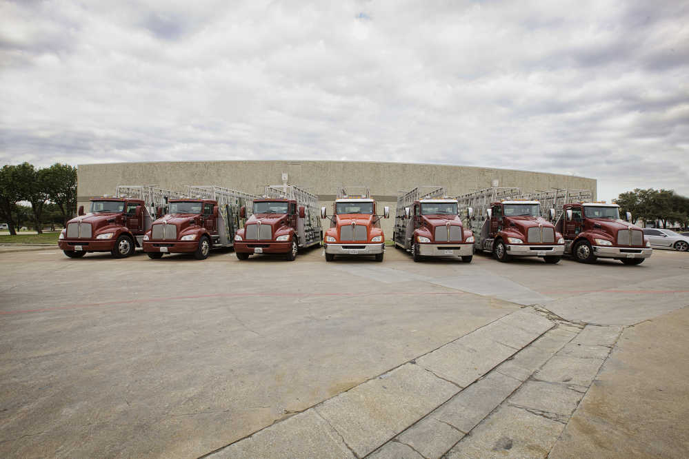 The Kenworth T270s are equipped with six-speed Allison automatic transmissions and 350-hp PACCAR PX-9 engines providing 1,000 lb-ft of torque, and can carry nearly twice as much glass products on 24-ft. racks, or 10 ft. longer than the racks equipped on the trucks they replaced.