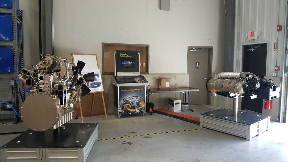 The Emission Solutions Center was set up at the open house.