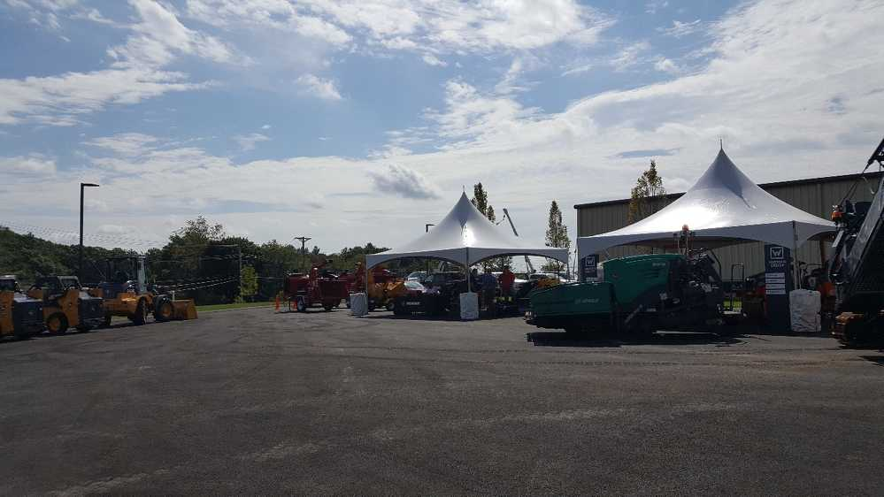 The sun shone brightly over the Schmidt Equipment open house.
