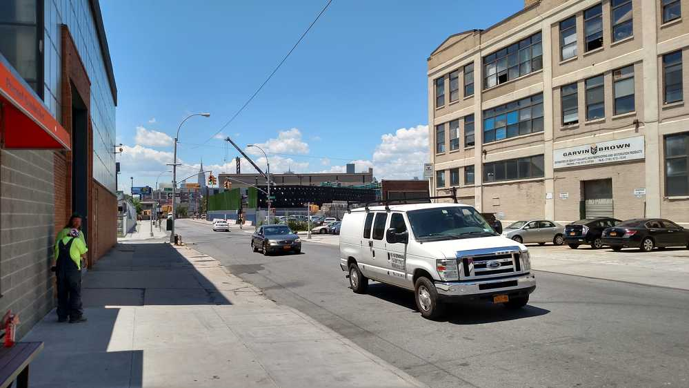 This street view of Hunters Point Recycling showcases the small footprint of the location.