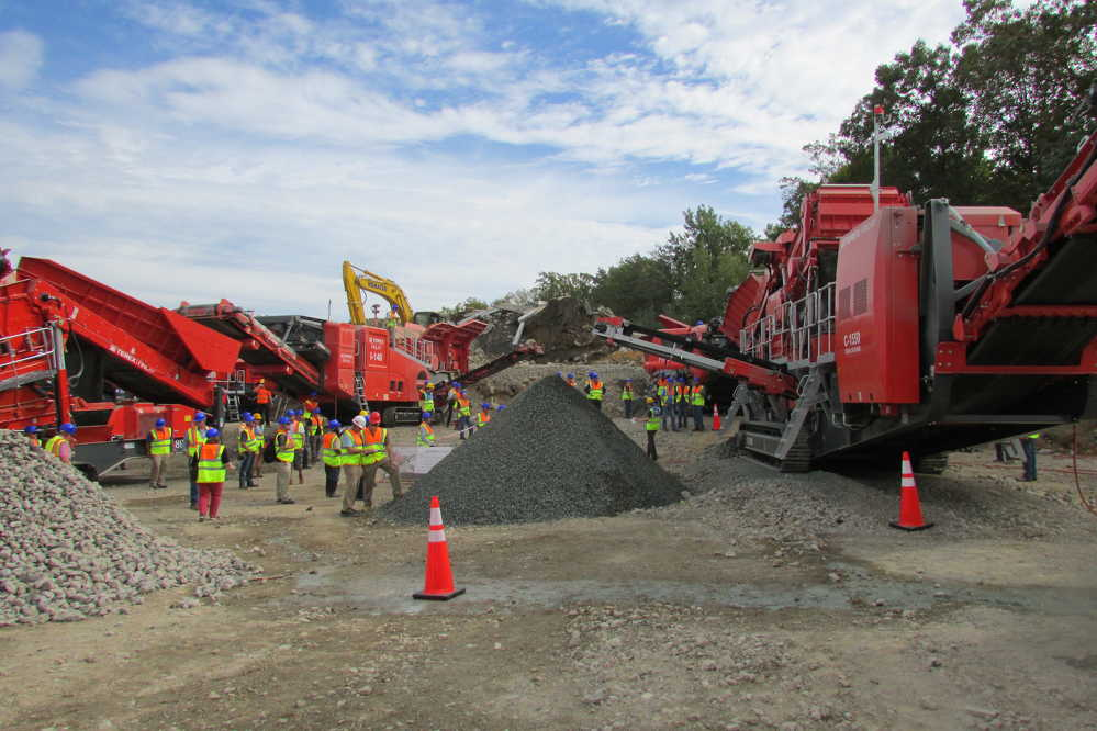Terex Finlay's expansive crushing and screening equipment display offered contractors from across the United States the opportunity to see it in action.