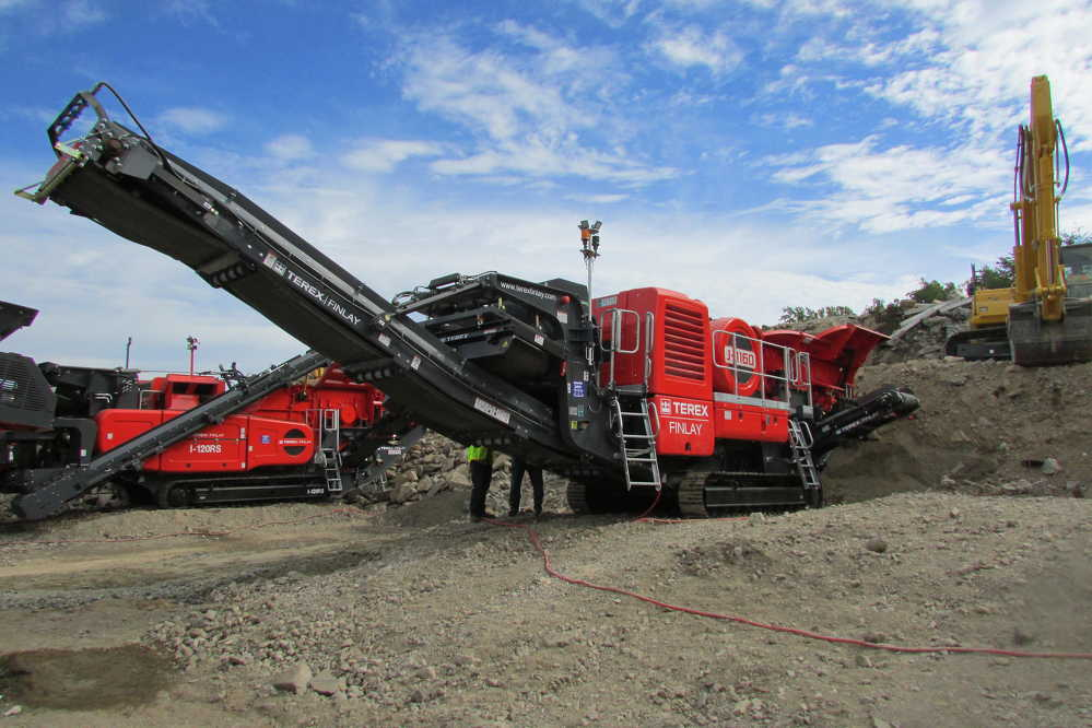 The J-1160 jaw crusher was one of four new machines showcased during the Open Days event.