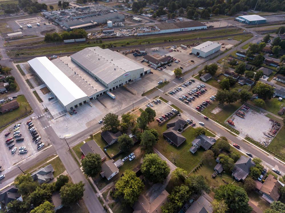 An aerial shot of Allen Engineering's new facilities.