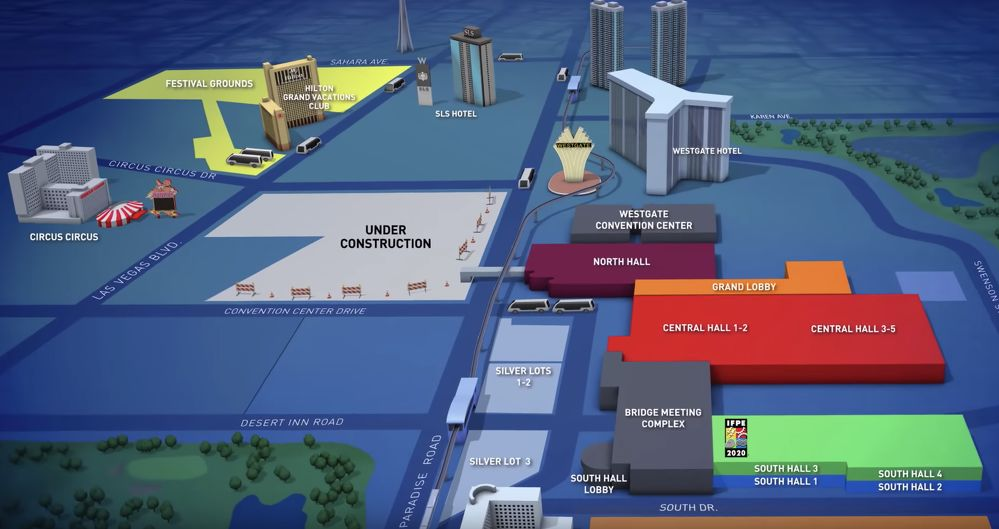 CONEXPO-CON/AGG Shares Video Look at 2020 Show Footprint With Las Vegas Festival Grounds