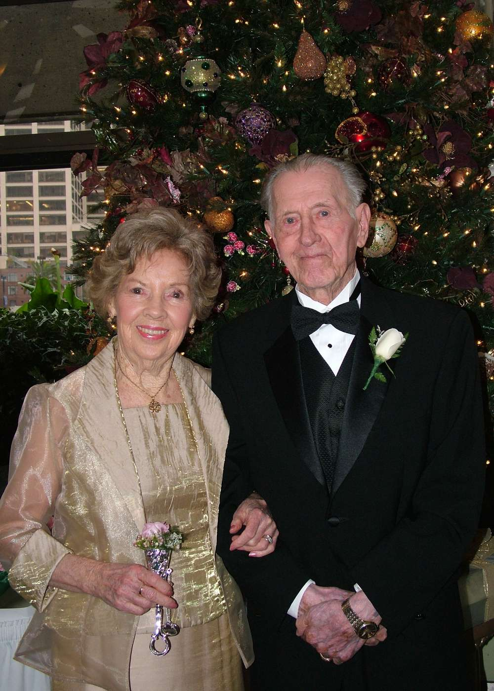 Charles and Catherine Heinbockel at their grand- daughter's wedding Dec. 30, 2005, in San Francisco.