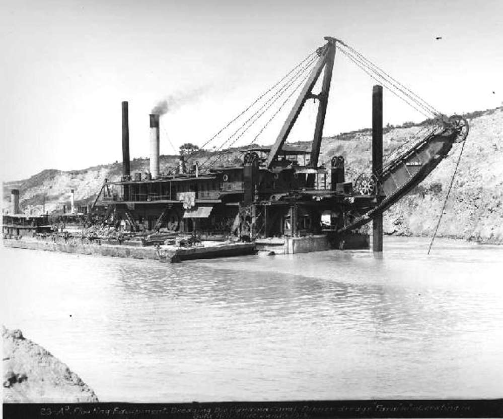 Dredges from several manufacturers played an important role in the building of the Panama Canal.