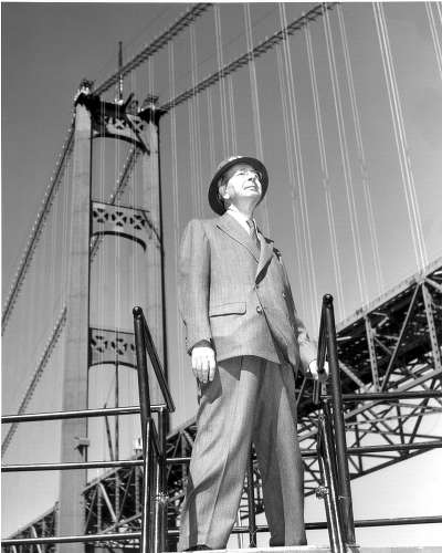In late 1952, David Steinman, designer of the Mackinac Bridge, agreed to prepare plans for bidding purposes with the understanding that he would be paid if and when the bonds were sold. His firm received $3.5 million to design the Mackinac Bridge. Steinman's consulting engineering firm was located in New York City.