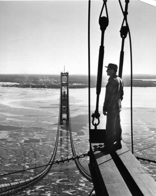 Late winter view to the south from the top of the north tower on March 4, 1957.