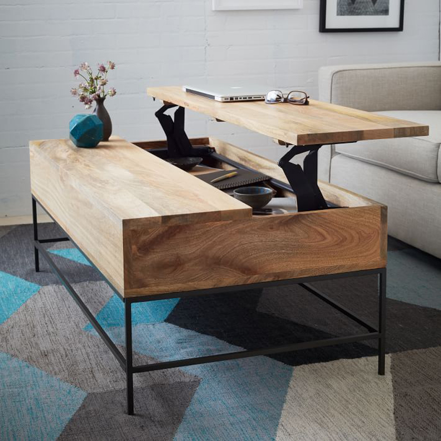 Available At West Elm. Multifunction Furniture Rustic Storage Coffee Table  West Elm