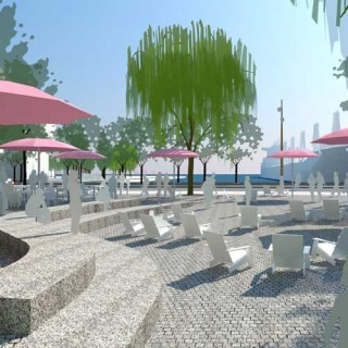 Renderings of the Sugar Beach extension