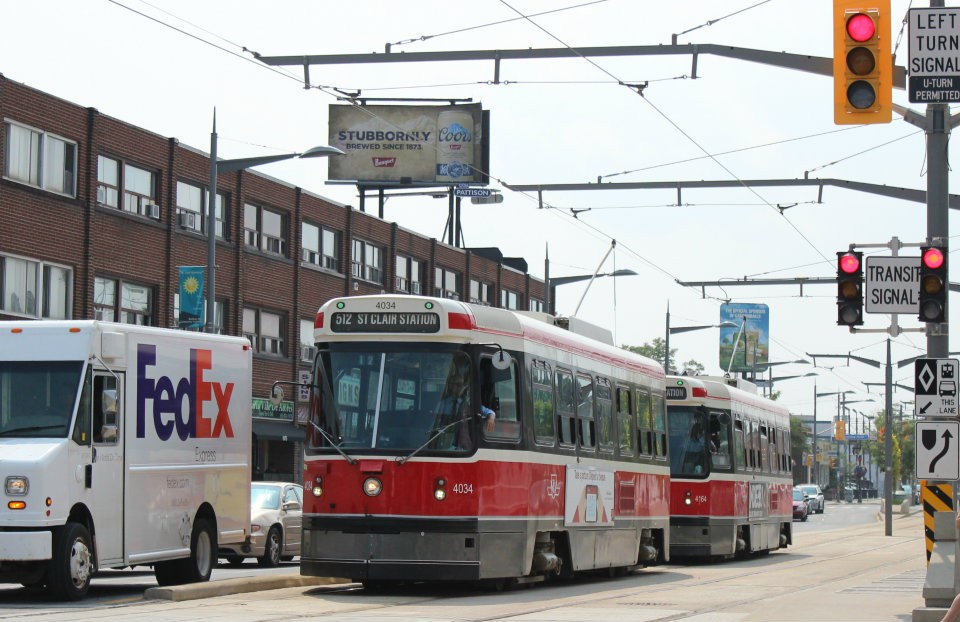 TTC streetcar along St. Clair Ave. W. Photo: Wayne Karl