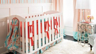 A playful twist on conventional nursery decor