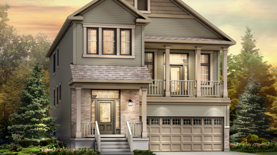 Rendering of The Killarney model, at Minto's Arcadia community in Kanata, Ont.