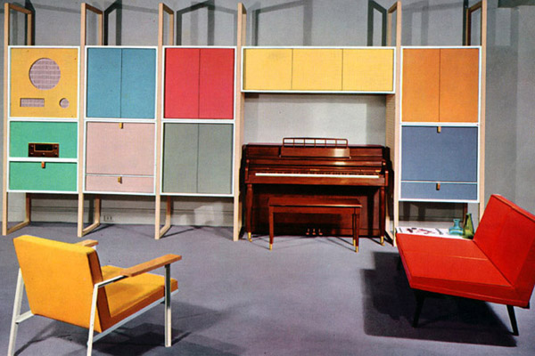1950s Furniture. Post War Optimism Of The U002750s Came With Cheerful Pastel  Colours And Bright And Open Living Spaces. The Atomic Age Captured The  Imagination ...