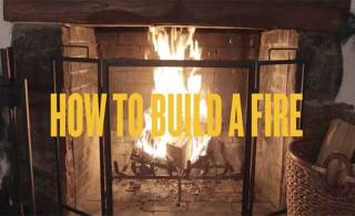 Enjoy your fireplace: How to build a fire (VIDEO)