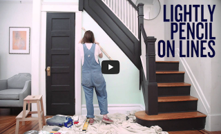 How to paint a striped wall (VIDEO)