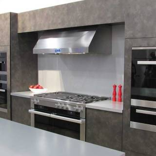 Miele offered a respite from the craziness, with its home-inspired set-up...