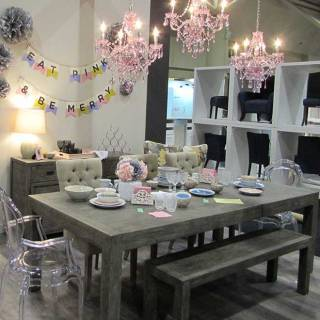 A sweet party scene at one of my fave stores, Urban Barn.