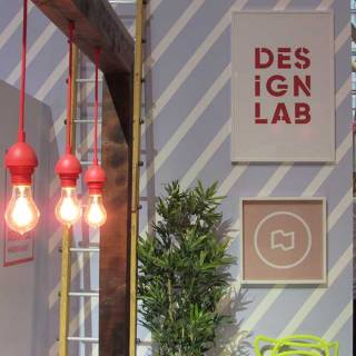Illuminating design, at Toronto's Design Lab booth at the Interior Design Show.