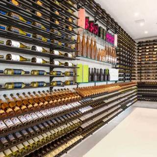Two fully-stocked champaign and wine cellars