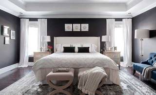 Angela Price's dark and dreamy bedroom makeover