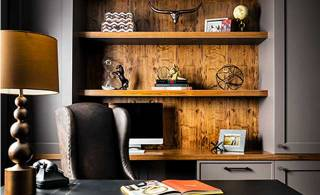 Designing a home office, like a boss