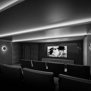 Host a private movie screening at Time and Space in the on-site theatre