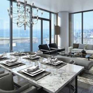 Harbour Plaza Penthouse Collection Dining & Living Room2